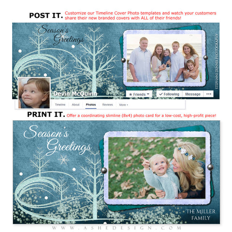Post & Print Templates | Winter Wonderland