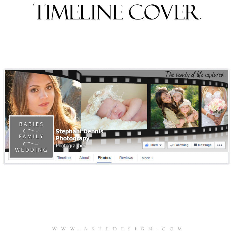 Ashe Design | Facebook Timeline Cover | Film Strip