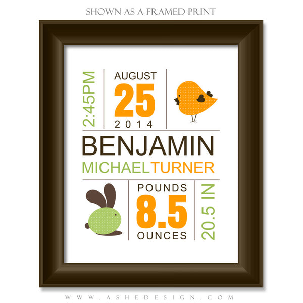 Amped Up Newborn Word Art | On Baby framed print