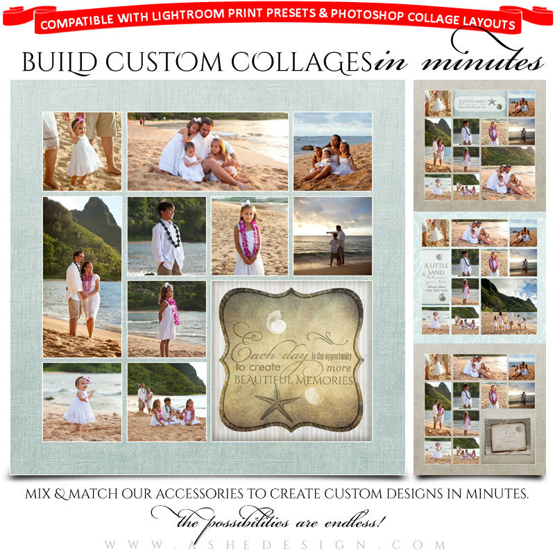 Collage Accessory Kit | By The Seashore examples