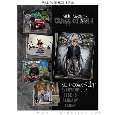 Black Leather YB Ads full page web display