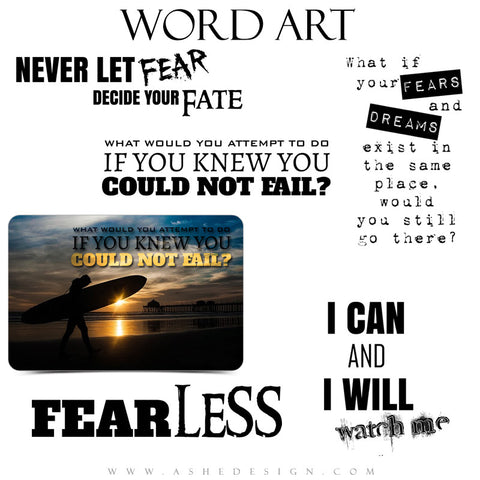 Word Art Fearless full set web display