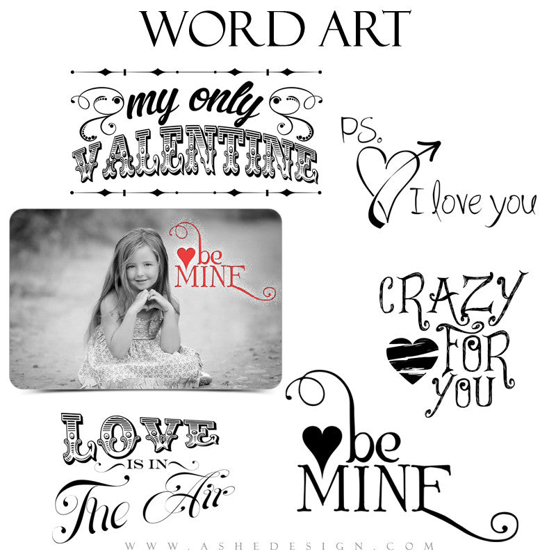 Word Art - Crazy For You full set web display