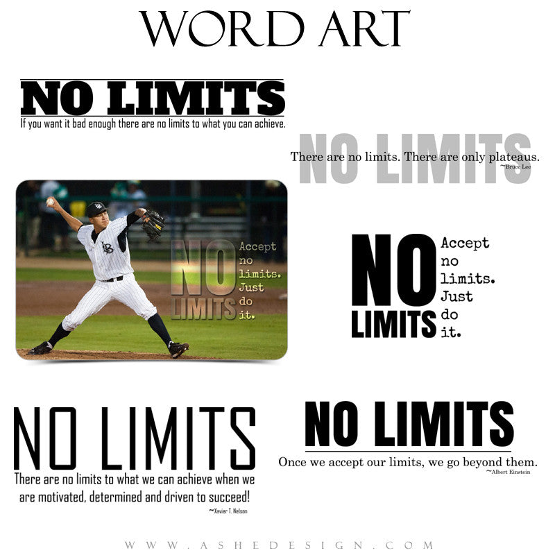Word Art Collection - No Limits full set web display