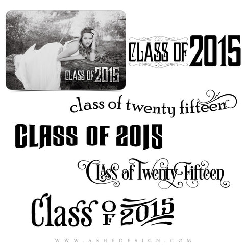 Word Art Class Of 2015 full set web display