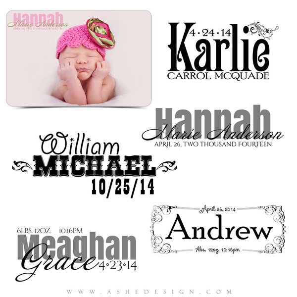Customizable Word Art Stamps | Little Ones full set