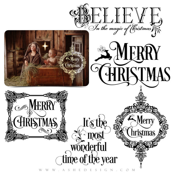 Holiday Word Art | The Magic Of Christmas full set