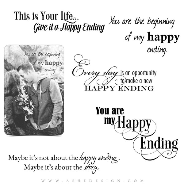Word Art | Happy Ending full set