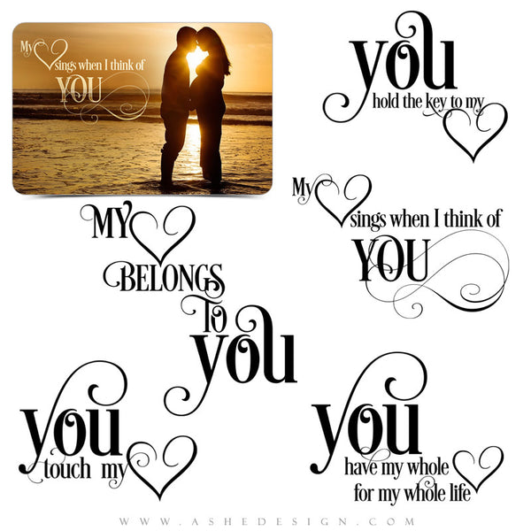 My Heart Belongs To You Word Art full set web display