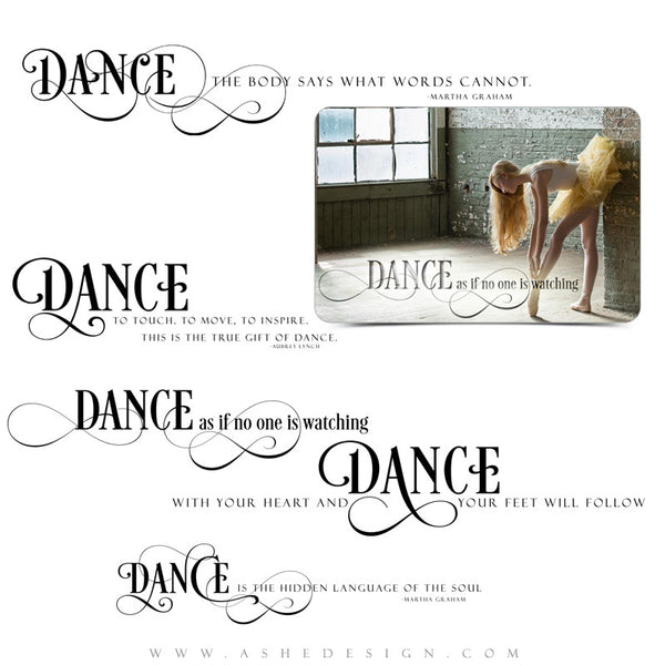 Word Art Collection - Just Dance full set web display