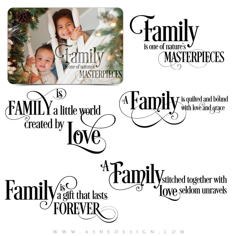 Word Art Collection - Family Is Everything full set web display