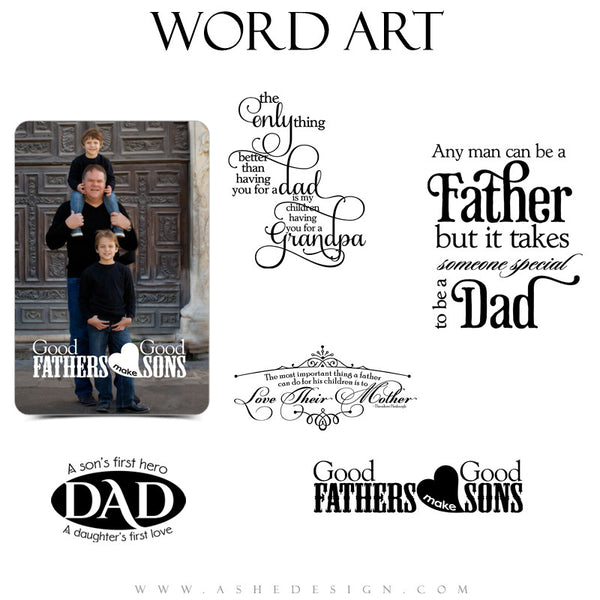 Family Word Art Quotes - My Dad My Hero