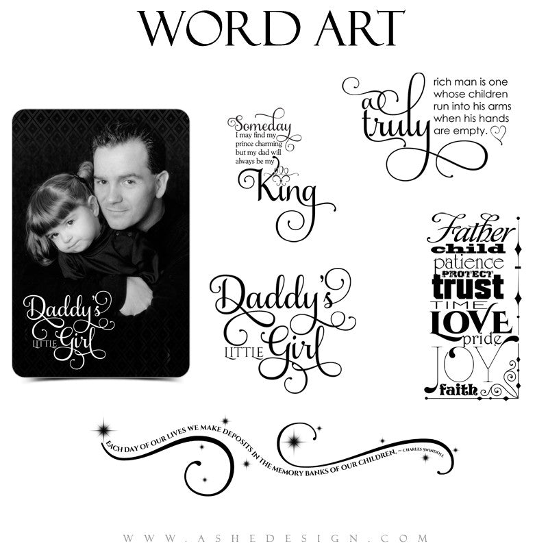 Family Word Art Quotes - Daddy Time