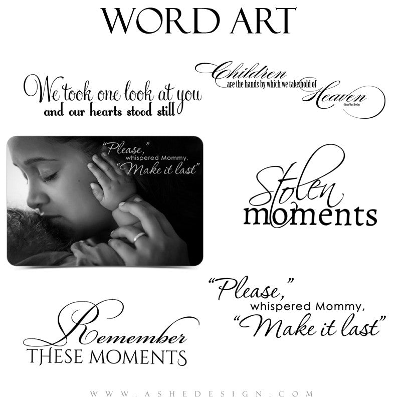 Word Art Collection Make It Last full set