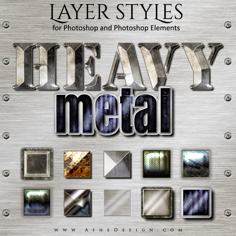 PS Layer Style - Heavy Metal full set web display