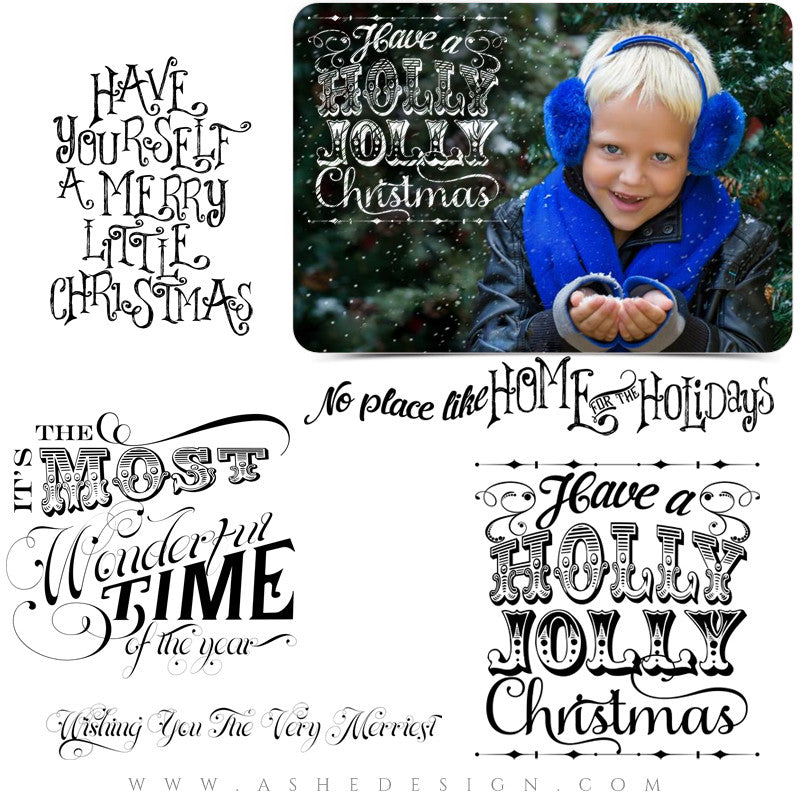 Home For The Holidays - Word Art Collection Full Set