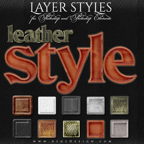 Photoshop Style Set - Leather full set web display