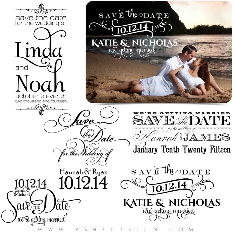 Save The Date Word Art Collection Full Set