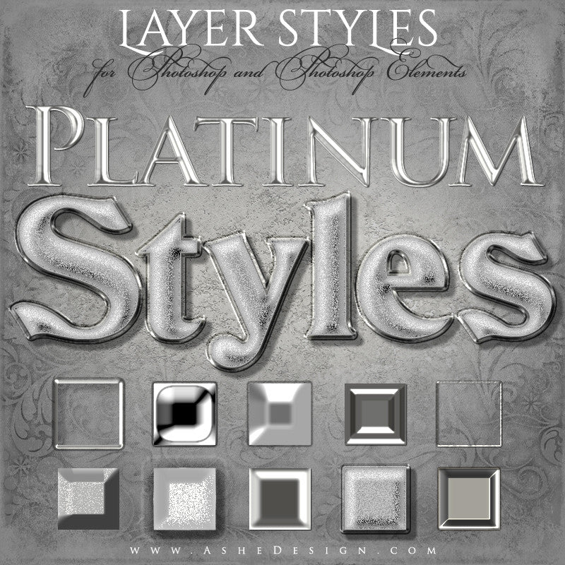 Designer Gems - Photoshop Styles - Platinum full set