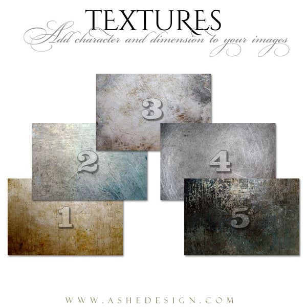 Ashe Design | Scraped Iron Texture Overlays web display