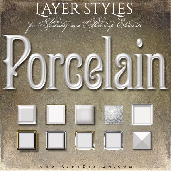 Designer Gems - Photoshop Style Set - Porcelain Full Set web display