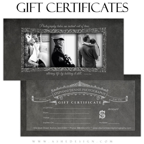 Chalkboard 2013 Gift Certificates web display