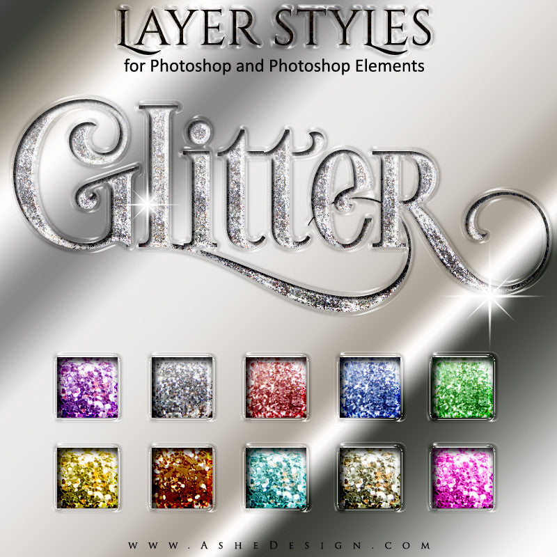 Layer Styles - Glitter full set web display