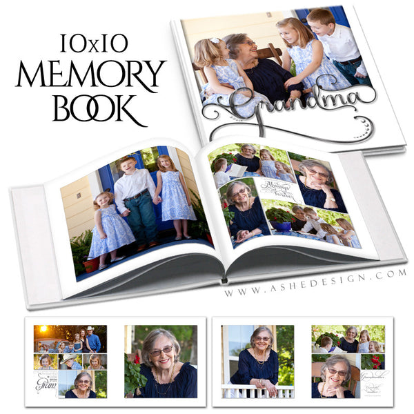 Simply Worded Grandmother 10x10 P BK open book web display