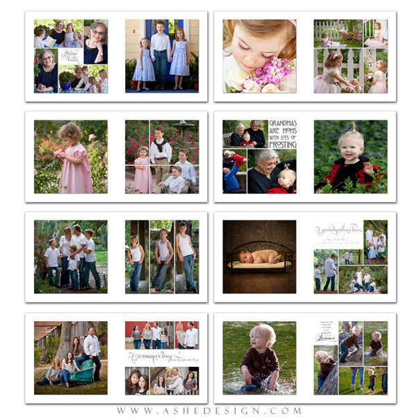 Simply Worded Grandmother 10x10 P BK pages web display