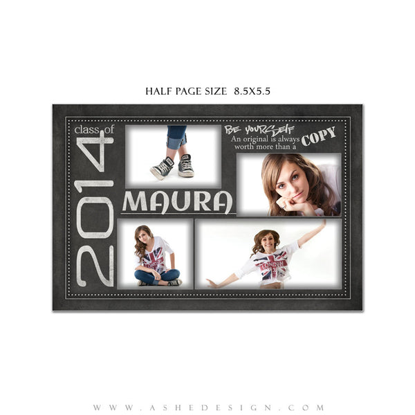 Chalkboard Yearbook Ad Templates for Photogrpahers
