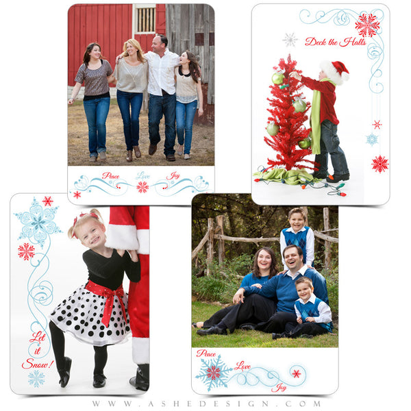 Designer Gems | 5x7 Holiday Overlays - Deck The Halls examples