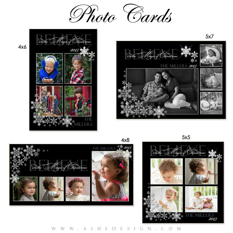Silent Night Photo Card templates