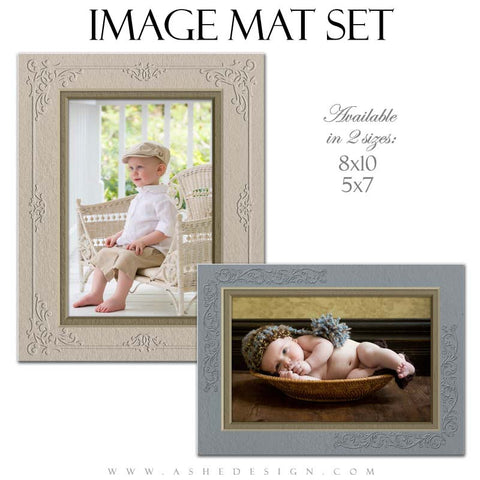 Image Mat Templates | Delicately Embossed