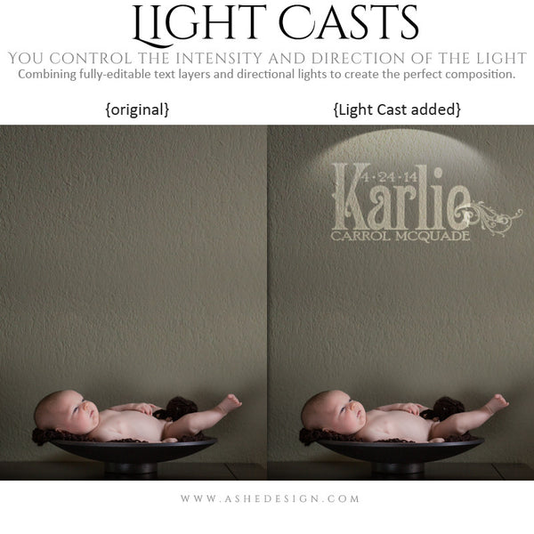 Digital Props for Photographers | Light Casts Babies example4