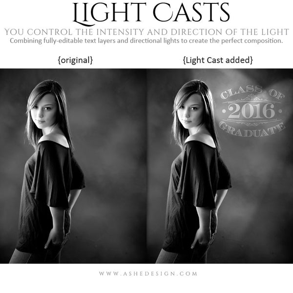 Photoshop Light Casts | Seniors 2016 example 3