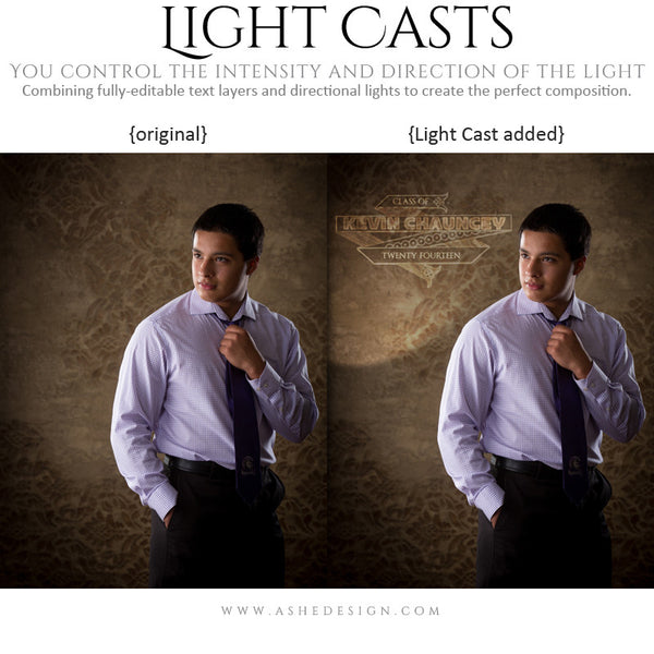 Digital Props for Photographers | Light Casts Senior Scrolls example 3