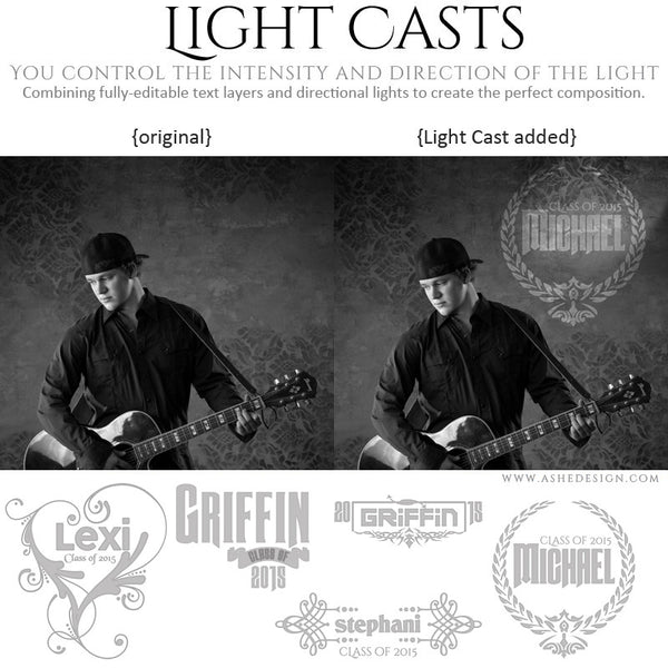 Digital Props Light Casts | Seniors 2015
