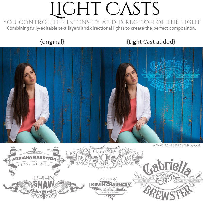 Digital Props for Photographers | Light Casts Senior Scrolls full set