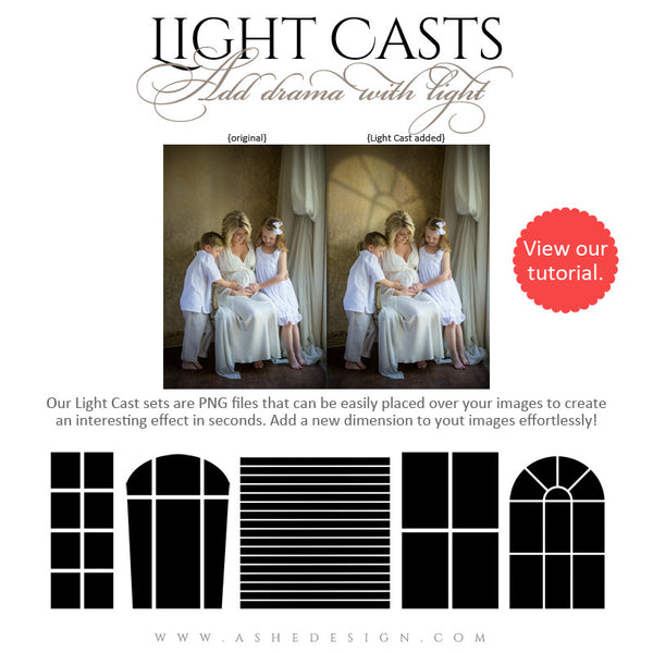 Digital Props - Light Casts - Windows full set web display