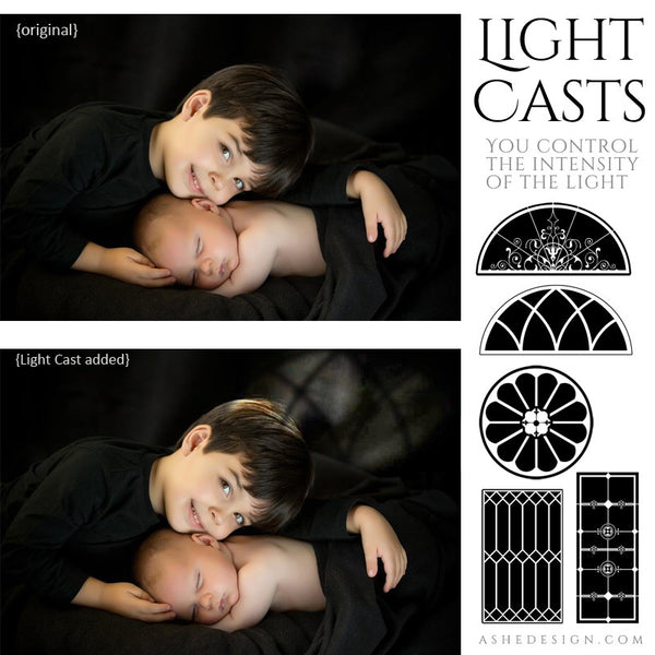 Light Casts - Ornate Windows - full set web display