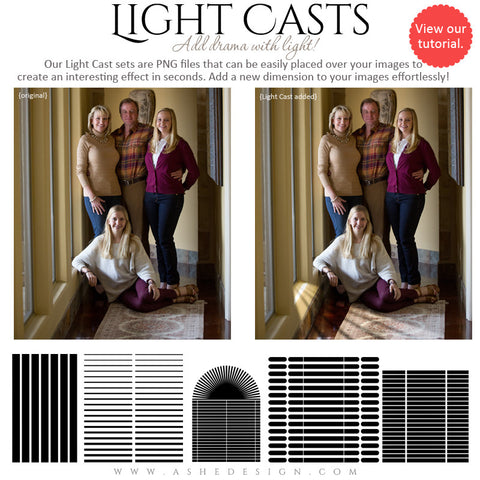 Digital Props Light Casts | Blinds