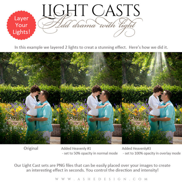 Digital Props for Photographers | Light Casts Heavenly3