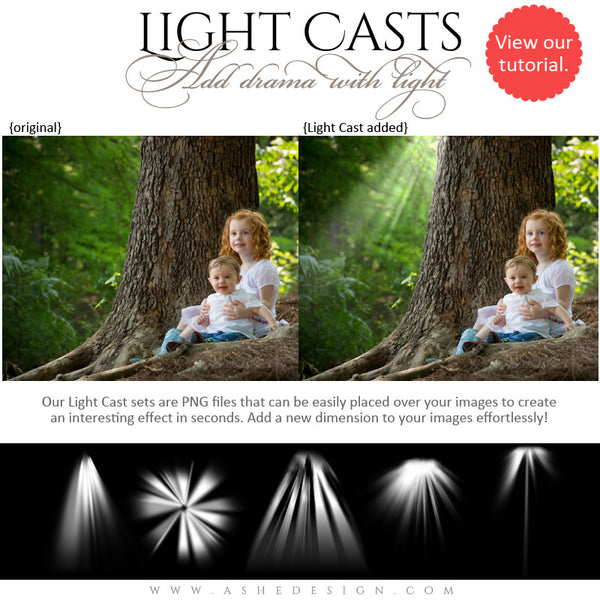 Digital Props for Photographers | Light Casts Heavenly