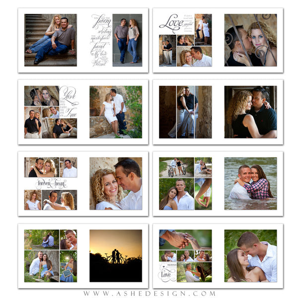 Photo Book Template 12x12 | Simply Worded Love pages