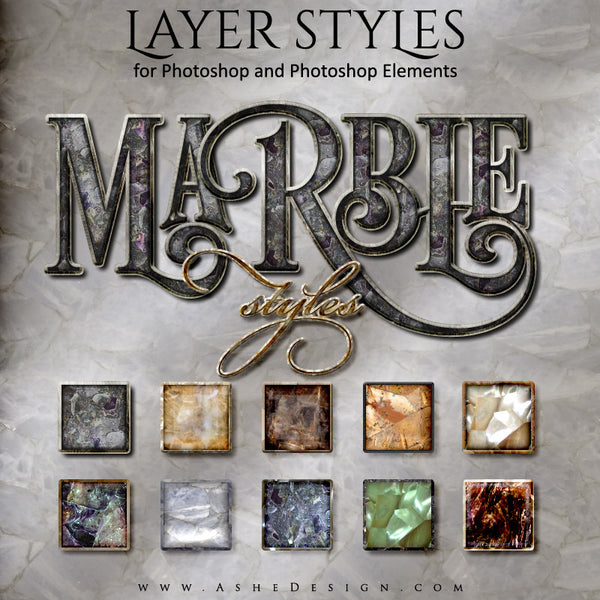 Photoshop Layer Styles - Marble full set web display