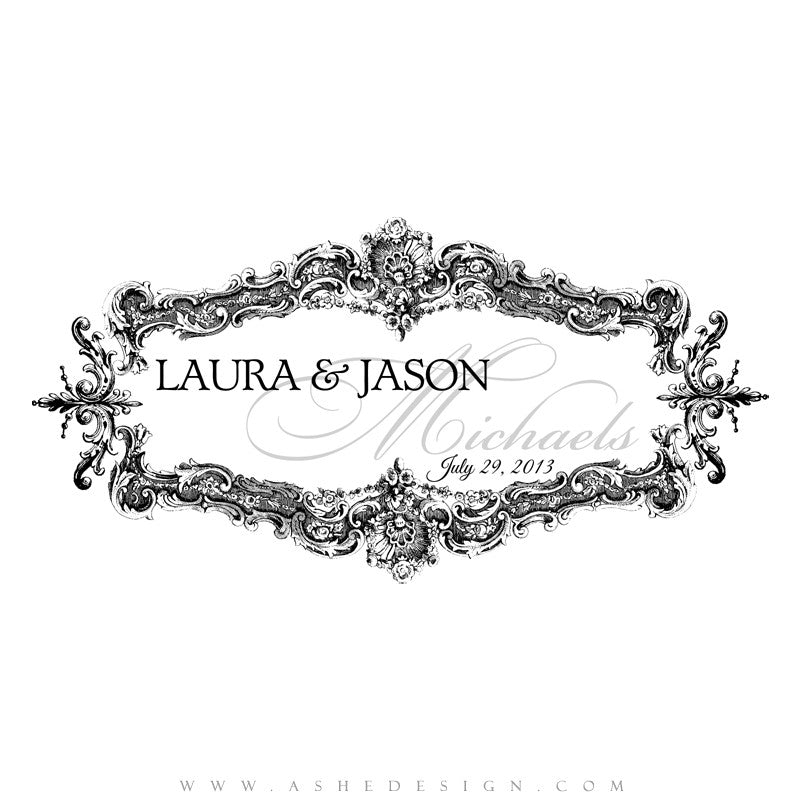Ashe Design | Monogram|  Enchanted web display