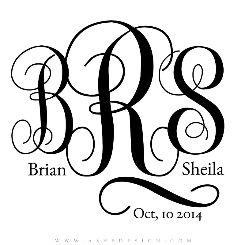 Ashe Design | Monogram Template | Interlocked