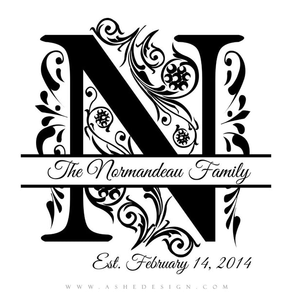 D Letter N Template on printable box, cut out,