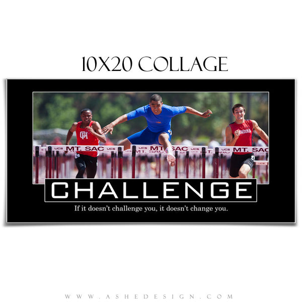 Motivational Collage 10x20 | Challenge