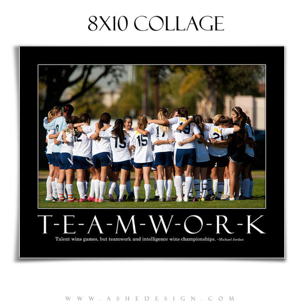 Motivational Collage 8x10| Teamwork
